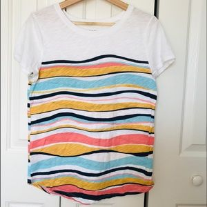 LOFT OUTLET striped Short sleeves tee